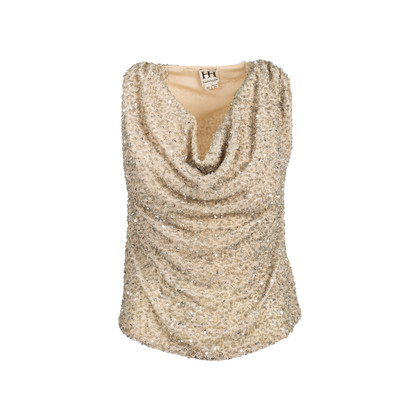 Authentic Second Hand Haute Hippie Embellished Cowl Neck Top (PSS-603-00020)