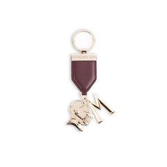 Burgundy Keychain