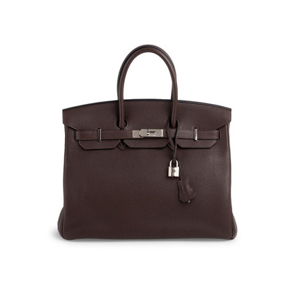 Authentic Second Hand Hermès Ebene Togo Birkin 35 (PSS-697-00002)