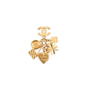 Authentic Vintage Chanel Iconic Charms Brooch (PSS-552-00045) - Thumbnail 1