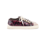 Authentic Second Hand Chanel Burgundy Grey Python Leather Sneakers (PSS-688-00004) - Thumbnail 2