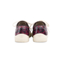 Authentic Second Hand Chanel Burgundy Grey Python Leather Sneakers (PSS-688-00004) - Thumbnail 3