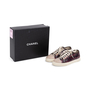 Authentic Second Hand Chanel Burgundy Grey Python Leather Sneakers (PSS-688-00004) - Thumbnail 6