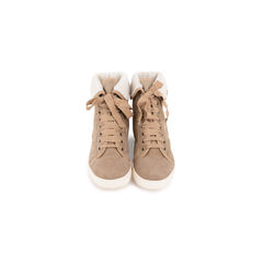 Shearling Lined Suede High Top Sneakers