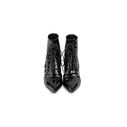 Authentic Second Hand Saint Laurent Cat 50 Patent Leather Booties (PSS-637-00021)