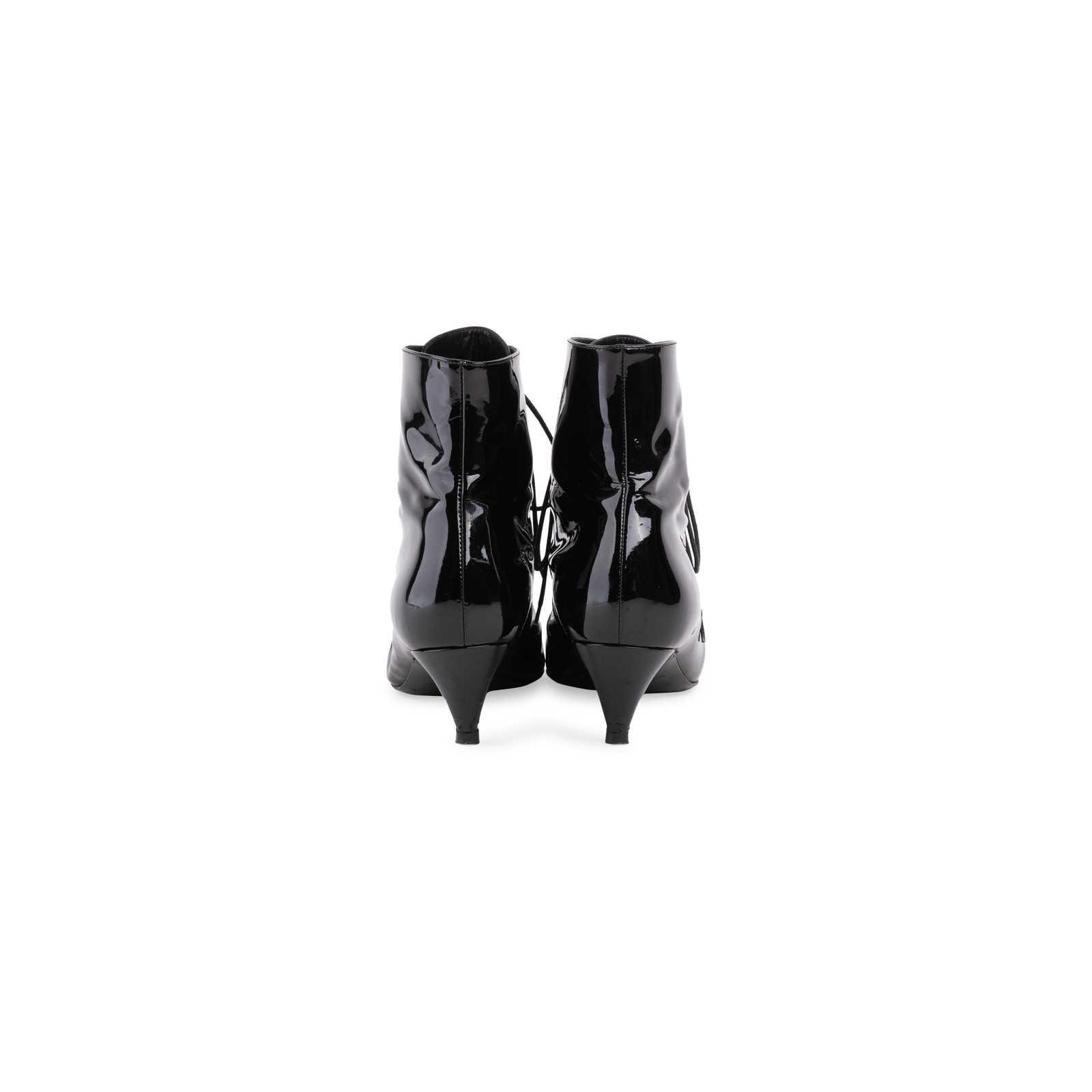 1de53b07e8b ... Authentic Second Hand Saint Laurent Cat 50 Patent Leather Booties  (PSS-637-00021 ...