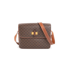 Macadam Pattern Shoulder Bag