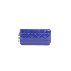 Patent Leather Cannage Zippy Wallet