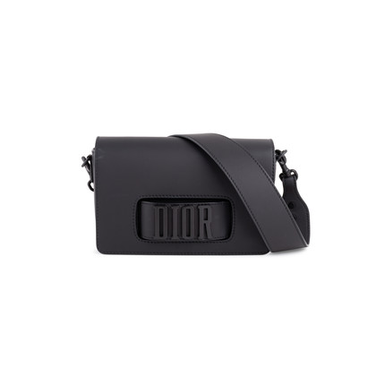 Authentic Second Hand Christian Dior Ultra Black Dio(R)evolution Flap Bag (PSS-548-00041)