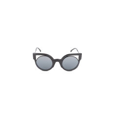 Cut-Out Lens Rounded Cat Eye Sunglasses