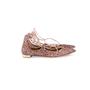 Authentic Second Hand Aquazzura Christy Pink Glitter Flats (PSS-697-00006) - Thumbnail 2