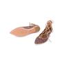 Authentic Second Hand Aquazzura Christy Pink Glitter Flats (PSS-697-00006) - Thumbnail 4