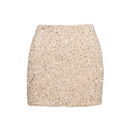 Authentic Second Hand Haute Hippie Embellished Mini Skirt (PSS-603-00019)