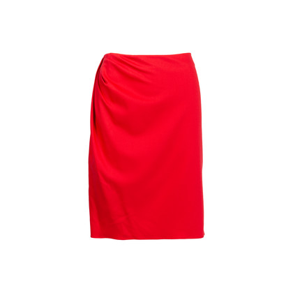 Authentic Second Hand Valentino Red Pencil Skirt (PSS-346-00038)