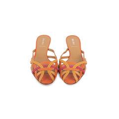 Multicolour Slip On Sandals