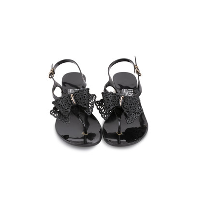 Authentic Second Hand Salvatore Ferragamo Perala Bow Thong Sandals (PSS-387-00088)