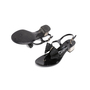 Authentic Second Hand Salvatore Ferragamo Perala Bow Thong Sandals (PSS-387-00088) - Thumbnail 4