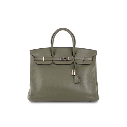Authentic Second Hand Hermès Vert Olive Birkin 40 (PSS-393-00077)
