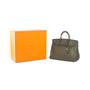 Authentic Second Hand Hermès Vert Olive Birkin 40 (PSS-393-00077) - Thumbnail 10