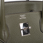 Authentic Second Hand Hermès Vert Olive Birkin 40 (PSS-393-00077) - Thumbnail 5