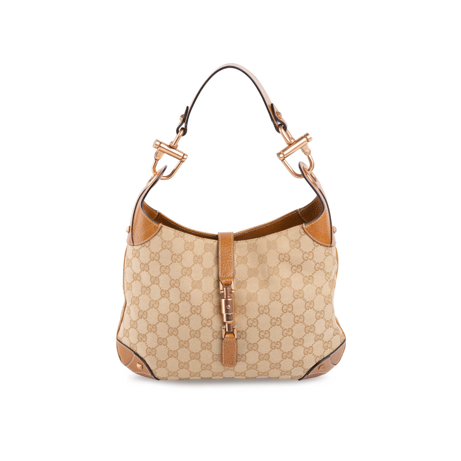 Gucci Monogram Jackie O Hobo Bag