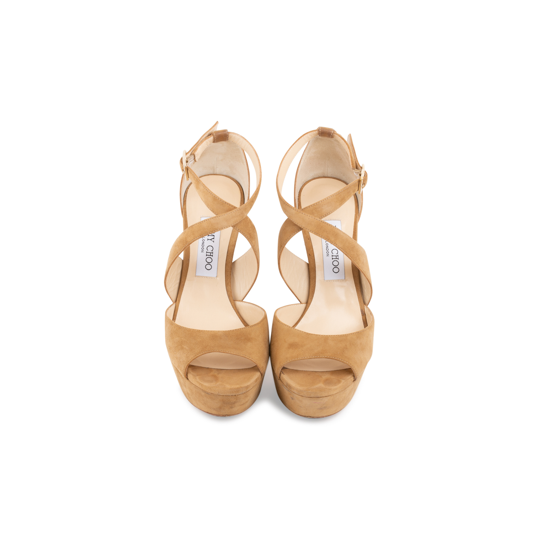 94a0a4e127fd6 Authentic Second Hand Jimmy Choo April Suede Crisscross Sandals  (PSS-097-00199) - THE FIFTH COLLECTION
