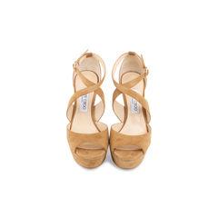 April Suede Crisscross Sandals