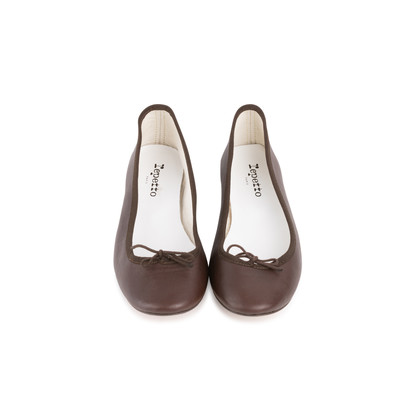 Authentic Second Hand Repetto Brown Ballerina Flats (PSS-705-00001)