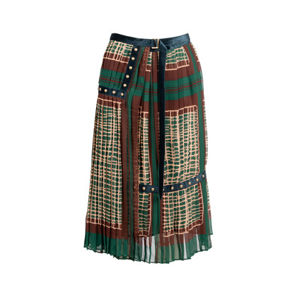 Authentic Second Hand Sacai Printed Pleated Midi Skirt (PSS-561-00040)