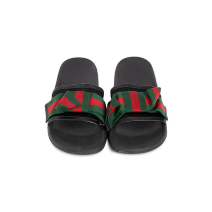 Authentic Second Hand Gucci Ribbon Bow Slides (PSS-503-00044)