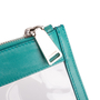 Authentic Second Hand Jil Sander Leather-Trimmed PVC Clutch (PSS-017-00019) - Thumbnail 3