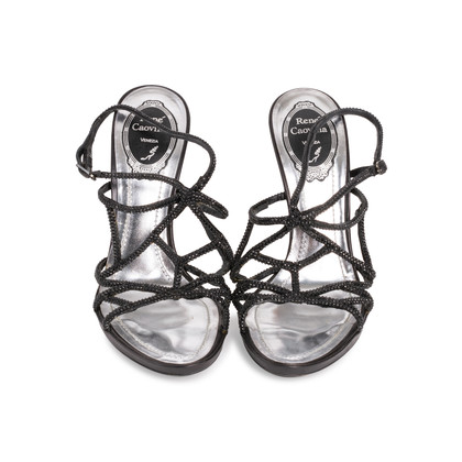 Authentic Second Hand René Caovilla Embellished Strappy Sandals (PSS-071-00266)