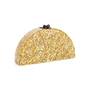 Authentic Second Hand Edie Parker Gold Confetti Semicircle Clutch (PSS-690-00042) - Thumbnail 1