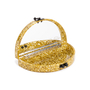 Authentic Second Hand Edie Parker Gold Confetti Semicircle Clutch (PSS-690-00042) - Thumbnail 4