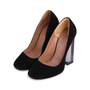 Authentic Second Hand Azzedine Alaïa Suede Clear Heel Pumps (PSS-715-00017) - Thumbnail 1
