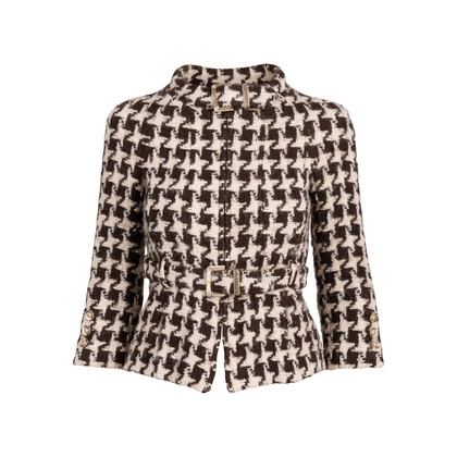 Authentic Second Hand Chanel Wool Houndstooth Jacket (PSS-071-00256)