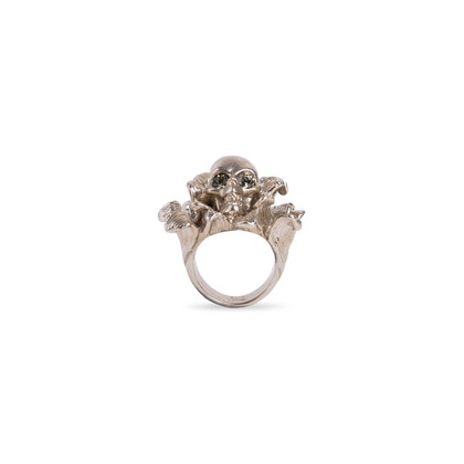 Authentic Second Hand Alexander McQueen Floral Skull Ring (PSS-190-00095)