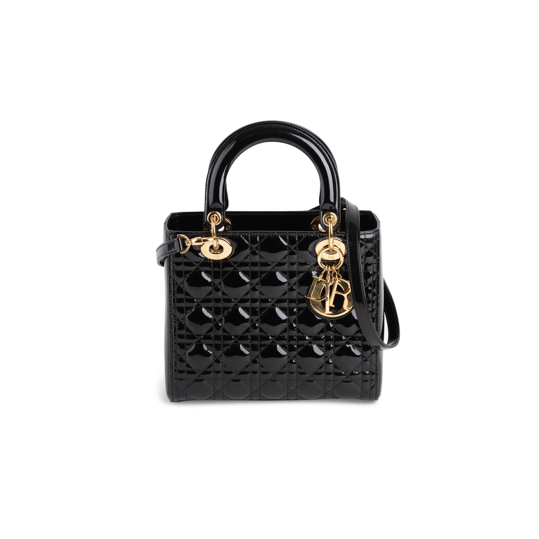 b956c392 Lady Dior Patent Leather Bag