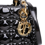 Authentic Second Hand Christian Dior Lady Dior Patent Leather Bag (PSS-190-00126) - Thumbnail 5