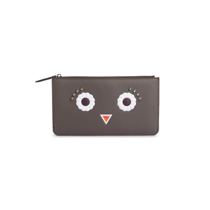 Authentic Second Hand Fendi Faces Leather Pouch (PSS-190-00100)
