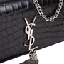 Authentic Second Hand Yves Saint Laurent Classic Monogram Tassel Satchel (PSS-210-00011) - Thumbnail 5