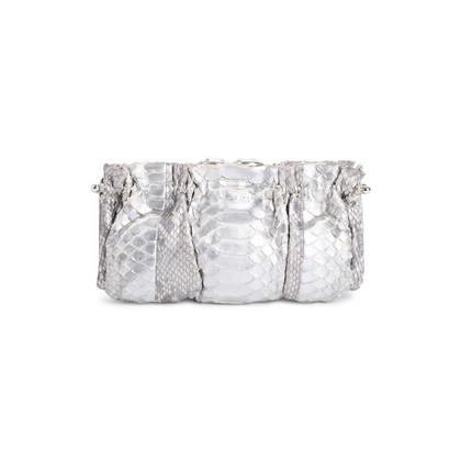 Authentic Second Hand Clara Kasavina Metallic Python Skin Clutch (PSS-424-00195)