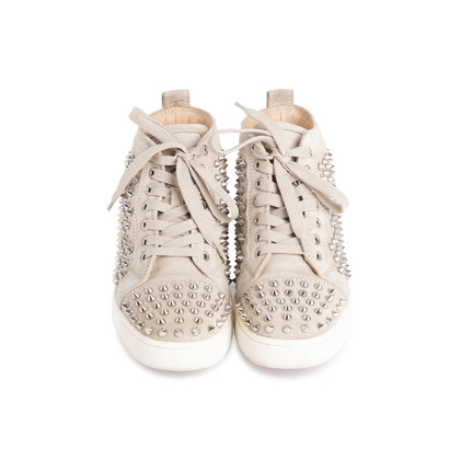 Authentic Second Hand Christian Louboutin Louis Suede High Top Sneakers (PSS-607-00017)