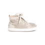 Authentic Second Hand Christian Louboutin Louis Suede High Top Sneakers (PSS-607-00017) - Thumbnail 2