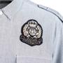 Authentic Second Hand Balmain Logo Patch Denim Shirt (PSS-074-00184) - Thumbnail 2