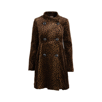 Authentic Second Hand Nanette Lepore Leopard Print Velvet Coat (PSS-004-00107)