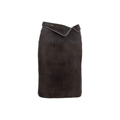 Authentic Second Hand Joseph Suede Pencil Skirt (PSS-695-00006)
