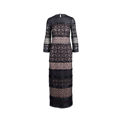 Authentic Second Hand Temperley London Lace Silk Trim Dress (PSS-225-00046)