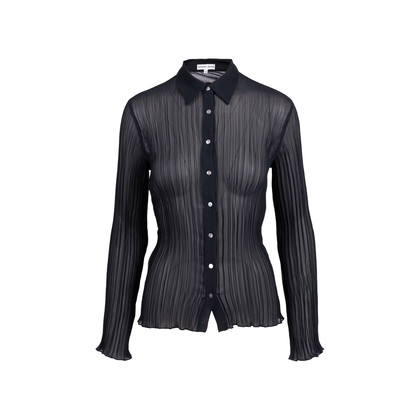 Authentic Second Hand Gerard Darel Sheer Pleated Top (PSS-695-00013)