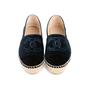Authentic Second Hand Chanel Velvet 'CC' Cap Toe Espadrilles (PSS-143-00125) - Thumbnail 0
